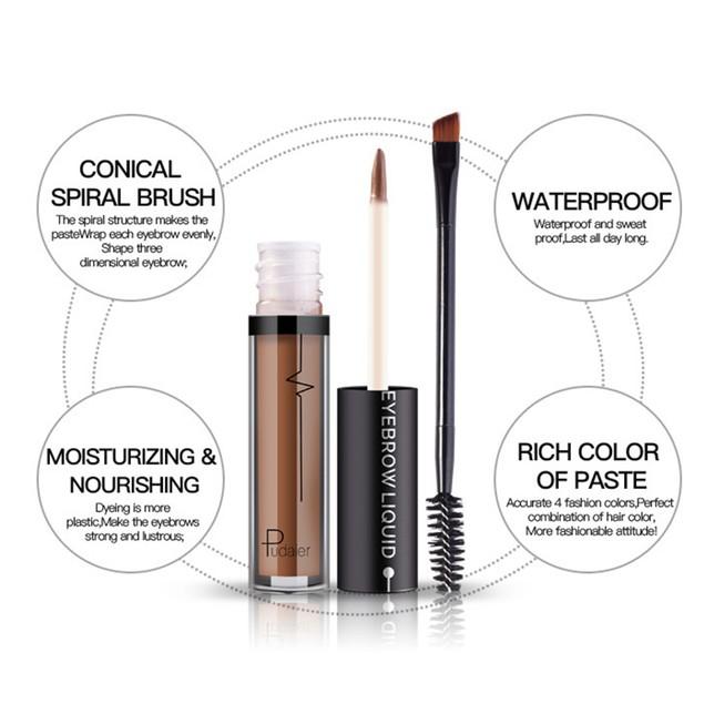 24 Hours Long Lasting Cosmetics Pencil Eyebrow Cream with Brush
