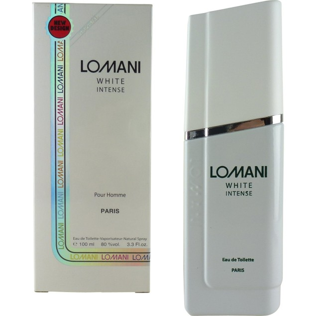 Lomani White Intense Eau De Toilette Spray Perfume For Men, 3.3 oz.
