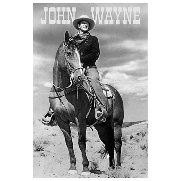 John Wayne Cowboy Poster 36 x 24 Horse Riding Duke Cowboy Movie Actor