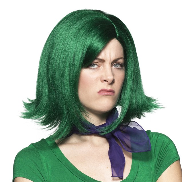 Gust Wig Disgust Inside Out Pixar Movie Hair Cosplay Costume Hunter Green