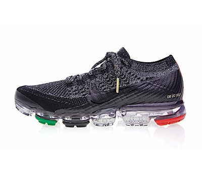 9b34776563cd5 Nike Air Vapormax Flyknit Running Shoes Black Red Green - Tanga