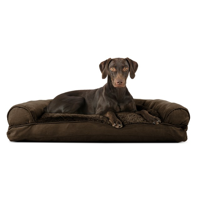 FurHaven Plush & Suede Pillow Sofa Pet Bed