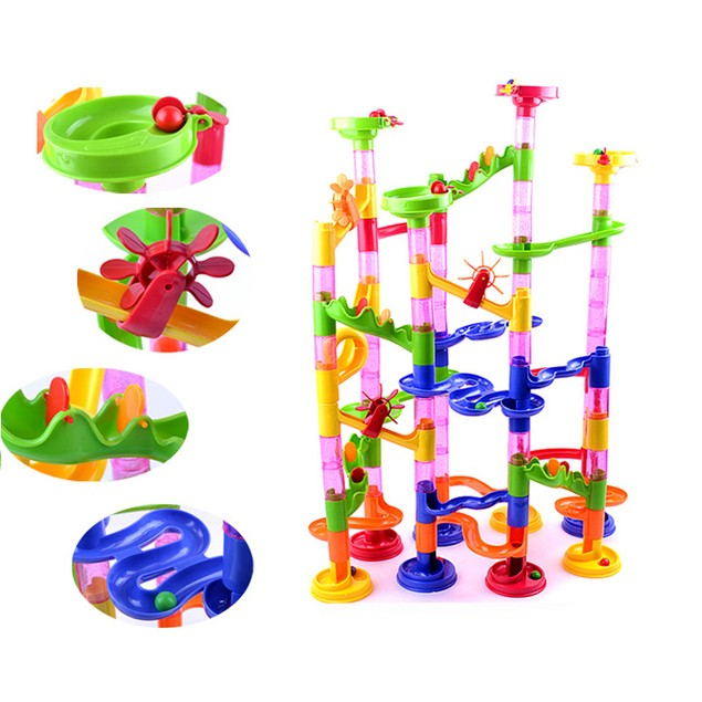 Kids 105-Piece Construction Marble Race Run Toy