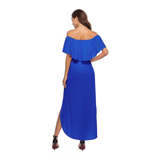 Off Shoulder Ruffle Maxi Dress