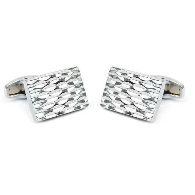 Premium Brass Silver Cufflinks
