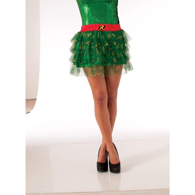 Robin sequined dress women skirt suit Barman Uniform Logo DC Comics