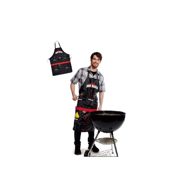 BBQ Boss Apron With Multi Pockets & Bottle Opener