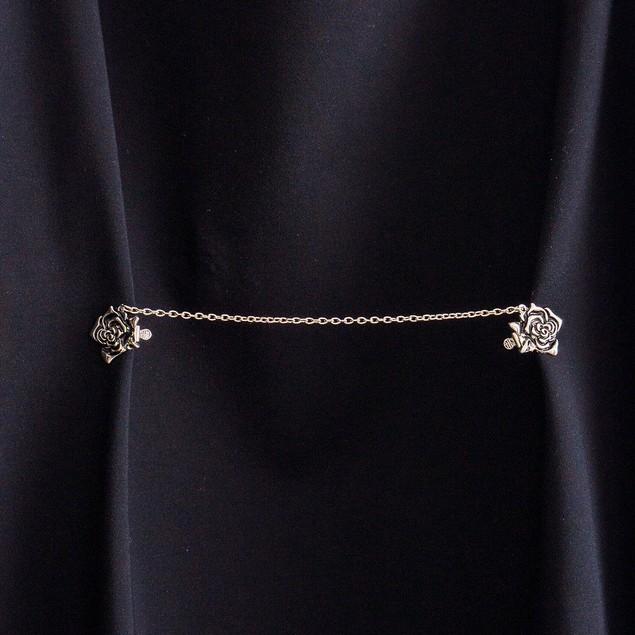 Vintage Rose Sweater Collar Clip-Cardigan-Shawl-Dress,Blouse,Jacket-Vest