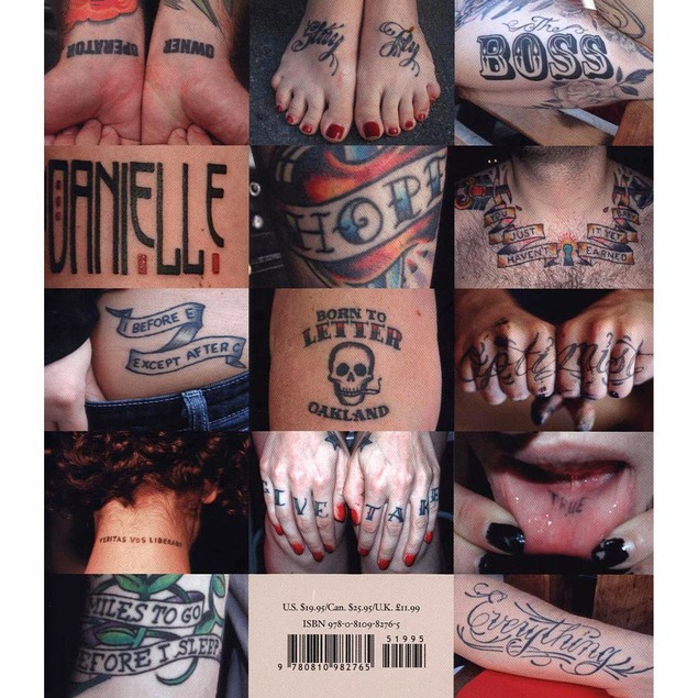 Body Type 2 More Typographic Tattoos Book,  by Abrams