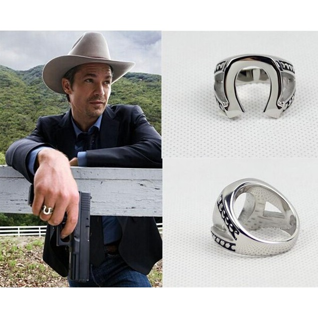Marshal Raylan Givens Horseshoe Ring Justified TV Show Horse Shoe Cowboy