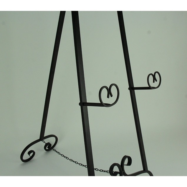 Large 50 Inch Tall Wrought Iron Display Easel Easels