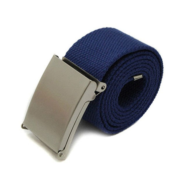 Unisex Canvas Metal Buckle Plain Webbing Business Casual Belt Strap