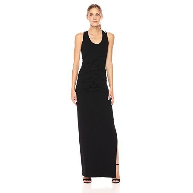 Nicole Miller Women's Vanessa Jersey Dress, BLACK (BK),  SZ M