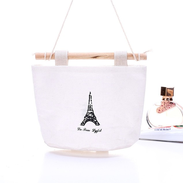1pc Cute Pattern Hanging Storage Bag Cotton Debris Pouch Wall Combination
