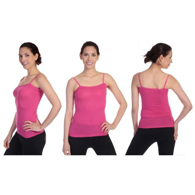 6-Pack Women's Cotton-Blend Adjustable Spaghetti Strap Tank Tops (S-3X)