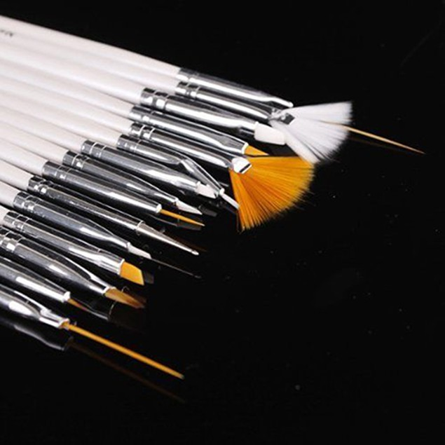 15 Pcs Nail Art Gel Design Pen Painting Polish Brush