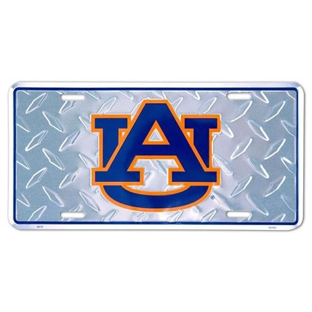 """Auburn Tigers NCAA """"Diamond"""" License Plate"""