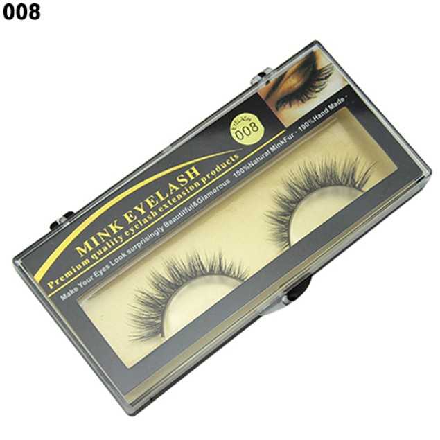 1 Pair Soft Mink Natural False Fake Eyelashes
