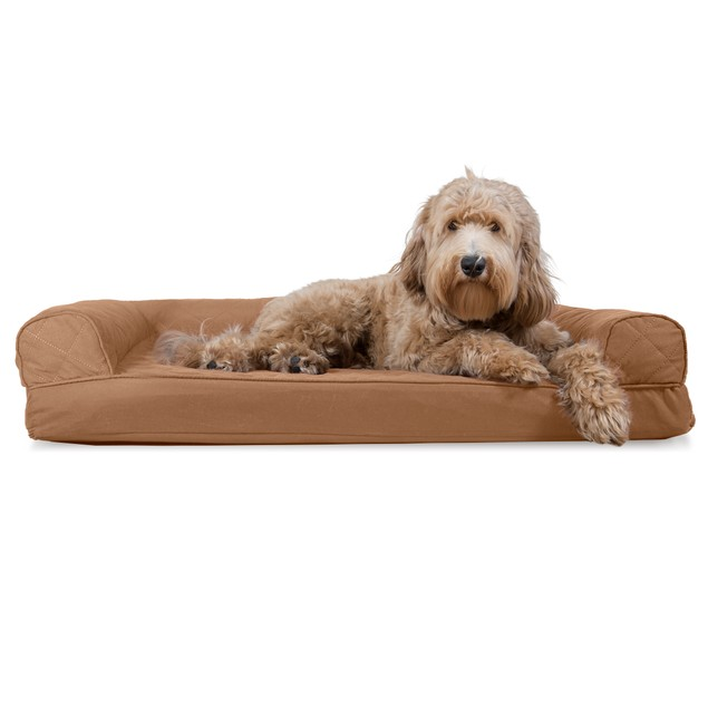 FurHaven Quilted Cooling Gel Sofa Pet Bed