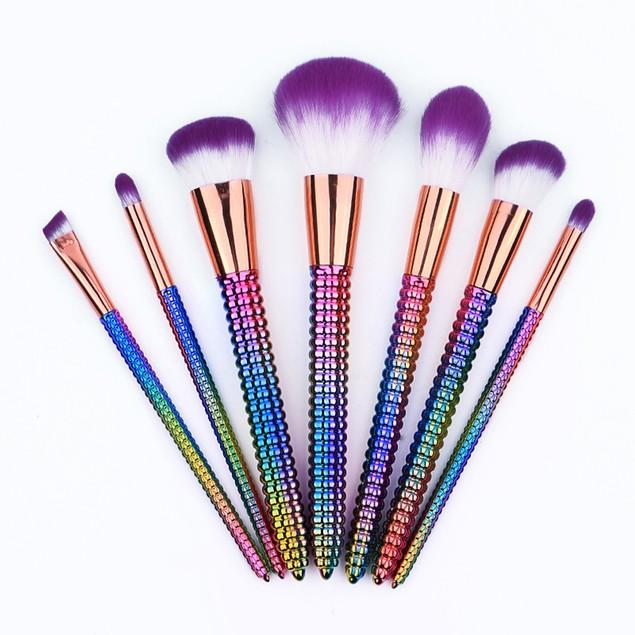 7PCS Cosmetic Makeup Brush Brushes Set Foundation Powder Eyeshadow 201