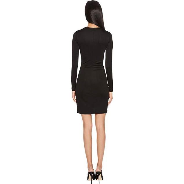 Versace Jeans Women's Side Cinched Long Sleeve Dress Nero 38