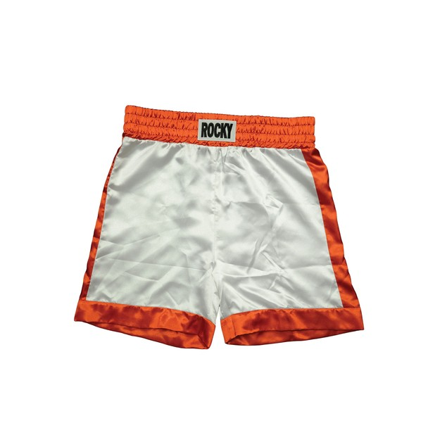 Rocky Balboa First Fight Shorts Movie Costume 1 I White Boxing Trunks Boxer