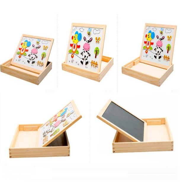 Kids Animal Drawing Board Magnetic Easel