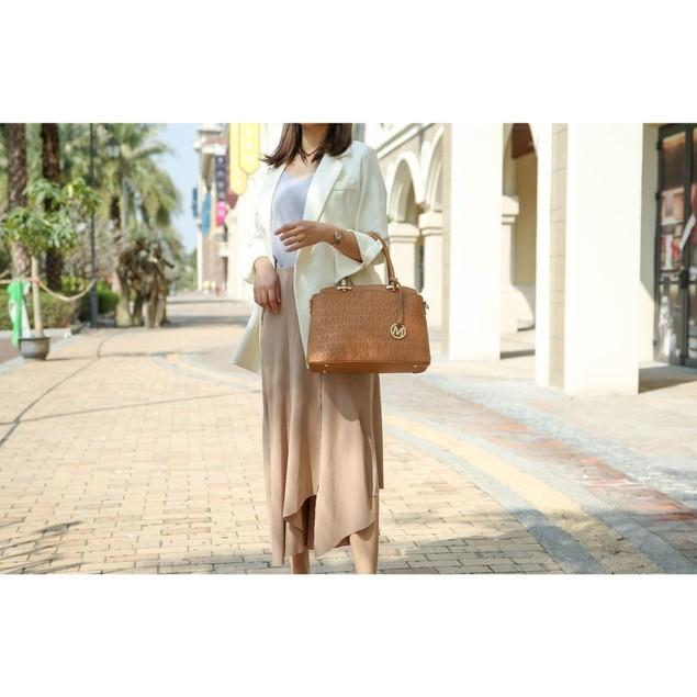MKF Collection Sammi 3 PC Set Satchel Handbag/Pouch/Wristlet by Mia K.