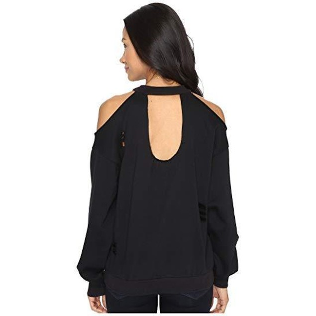 Brigitte Bailey Women's Merchant Cold Shoulder Black Shirt