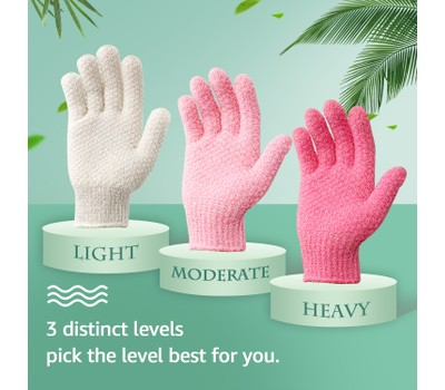3 Pairs Evridwear Exfoliating Gloves for Bath- 4 Colors Was: $31.99 Now: $19.99.