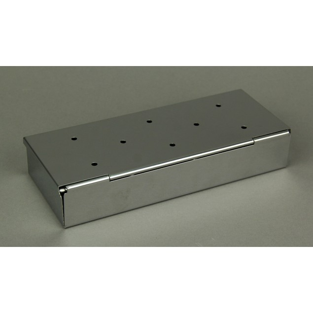 Mr. Bar-B-Q Stainless Steel Hinged Lid Wood Chip Grill Smoker Boxes