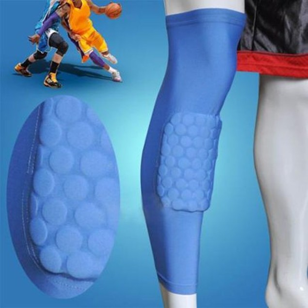 Kneepad Antislip Basketball Leg Knee Long Sleeve Honeycomb Protective Pad