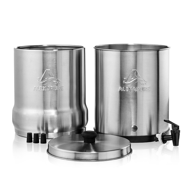 Alexapure Pro Stainless Steel Water Filtration System Tanga