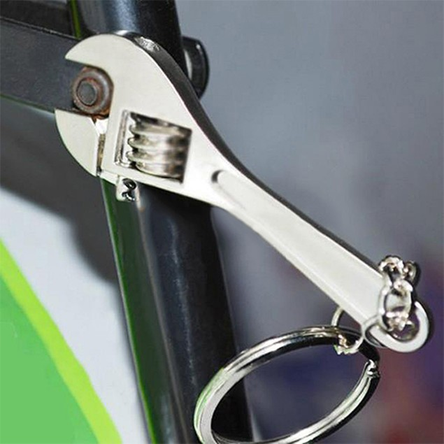 Tool Wrench Spanner Key Chain Ring Keyring Adjustable Keychain