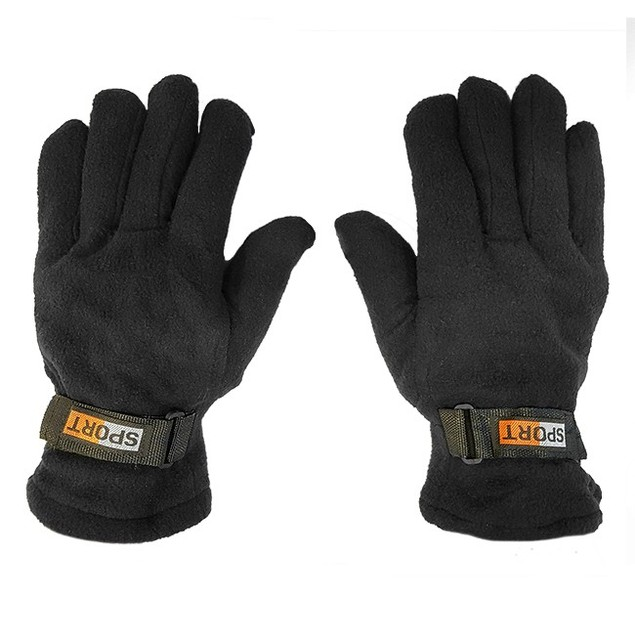 3 Pack Mens Fleece Lined Adjustable Warm Winter Gloves