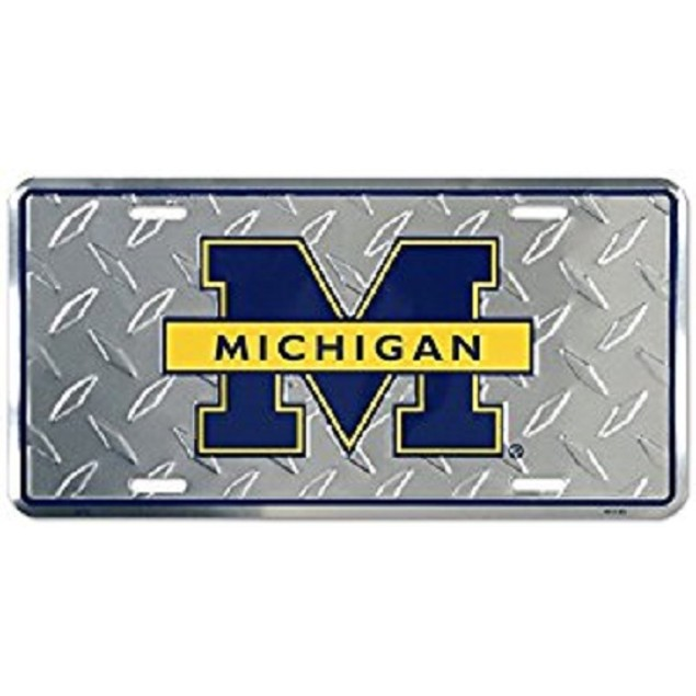 "Michigan Wolverines NCAA ""Diamond"" License Plate"