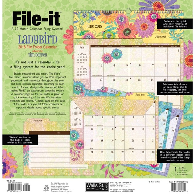 Ladybird File It Wall Calendar, Pocket Wall by Avalanche Publishing