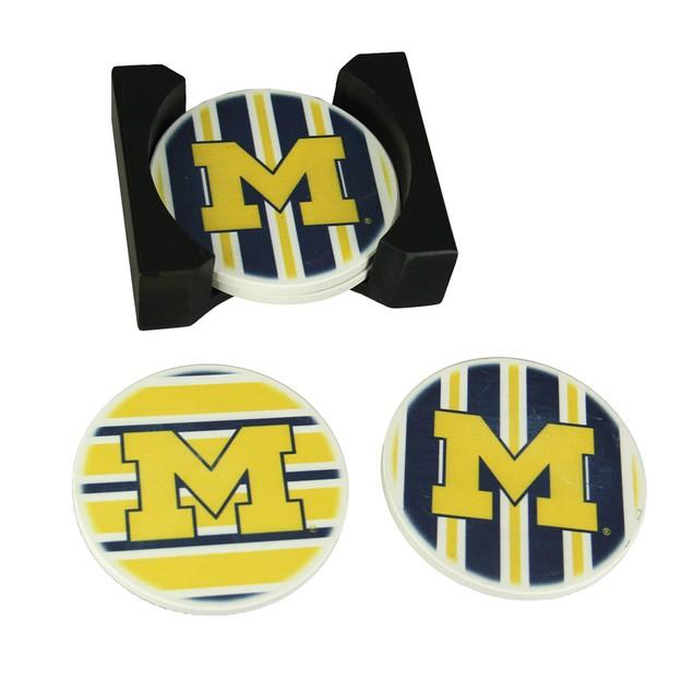 University Of Michigan Wolverines 4 Piece Coasters