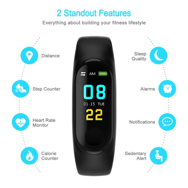Fitness Tracker, Waterproof Activity Tracker Bluetooth Wireless Smart watch