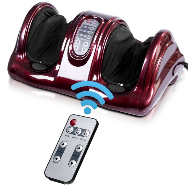Shiatsu Kneading and Rolling Foot  & Leg Massager With Remote