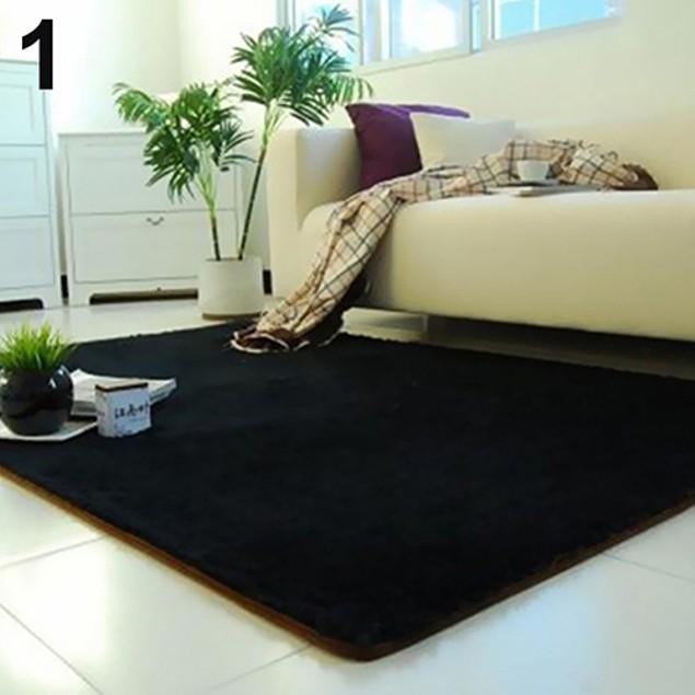 Living Room Bedroom Home Anti-Skid Soft Shaggy Fluffy Rug Carpet Floor Mat
