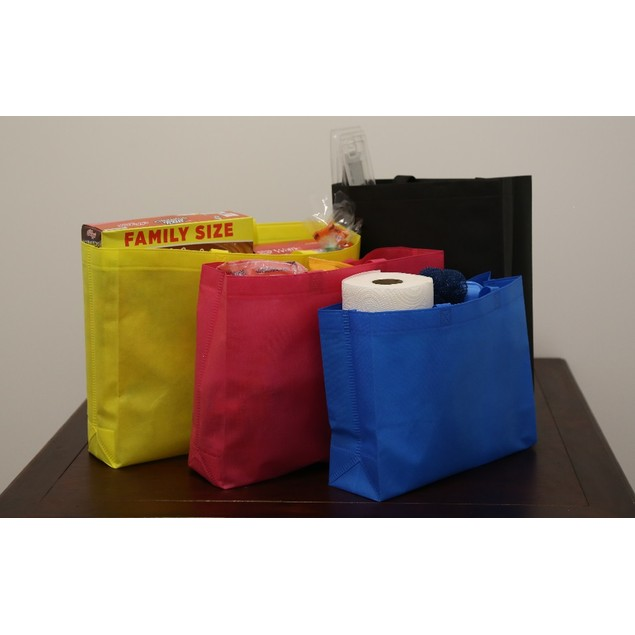 10-Pack Reusable Shopping Bags Assorted Size & Color