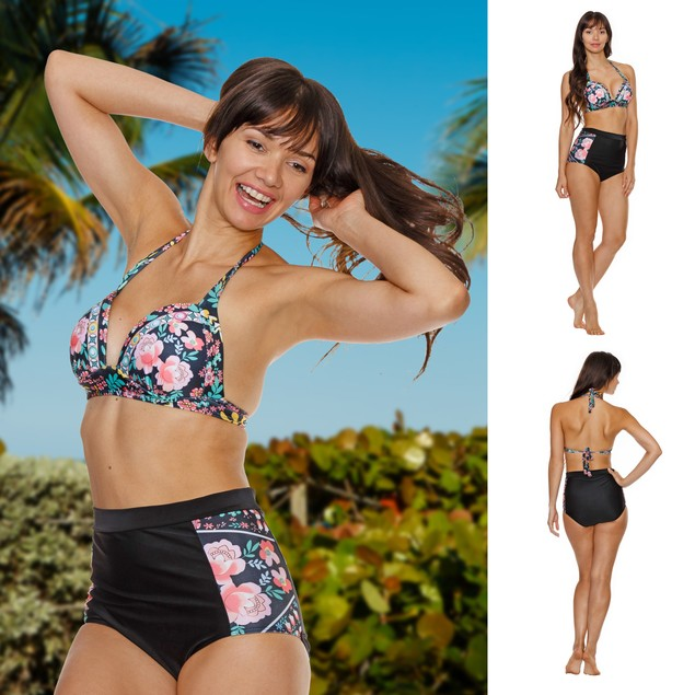 High Waist Flower Bikini
