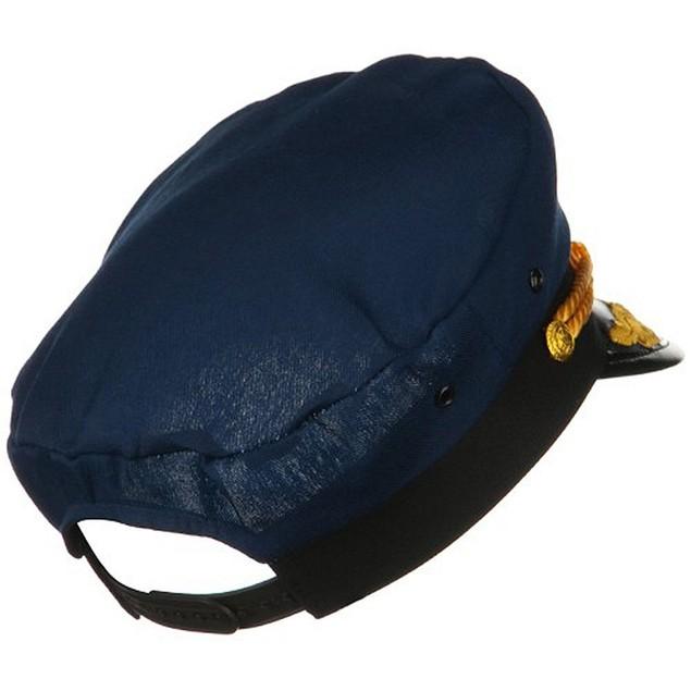 Navy Yacht Captain Hat With Scrambled Eggs Costume Blue Cap Sailor Adult