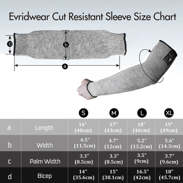 1 Pair- Evridwear Cut Resistant Sleeves for Arm Safety