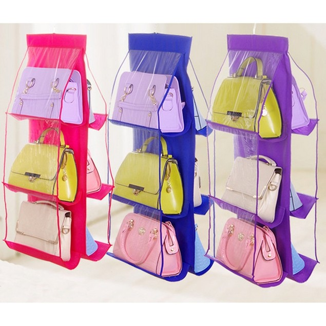 Double-Sided Six-Layer Handbag Storage Bag Hanging Type