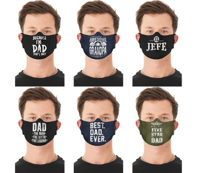 2-Pack Men's Funny Father's Day Washable, Reusable Face Masks Was: $34.99 Now: $14.49.