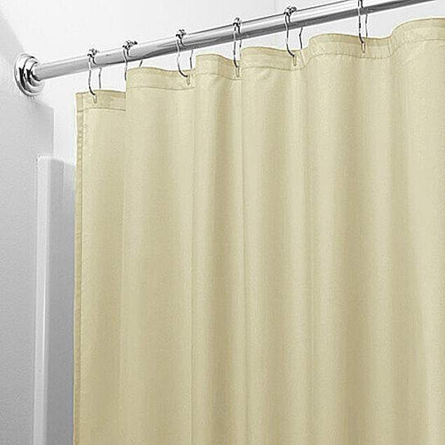 2-Pack: Heavy-Duty Magnetic Mildew Resistant Vinyl Shower Curtain Liners