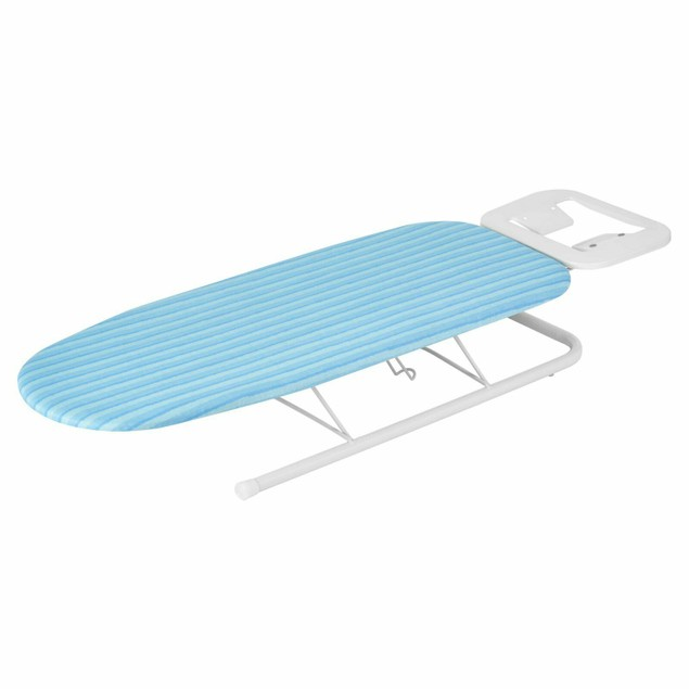 Honey Can Do Tabletop Ironing Board with Iron Rest, Blue