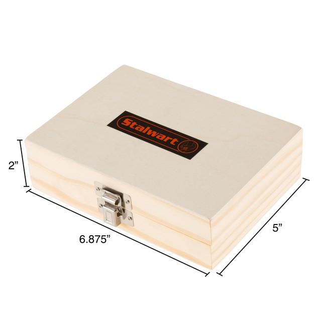 Router Bit Set in Wooden Case - 15Pc Stalwart